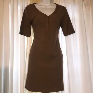 Beige forever 21 mini button up dress large